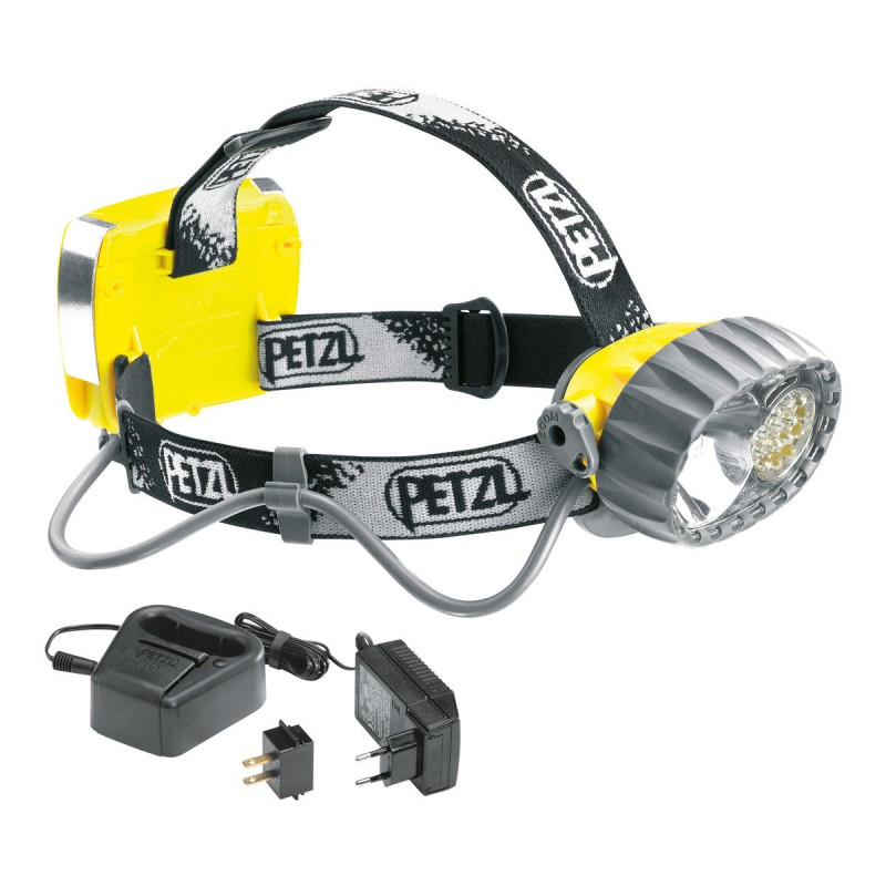 lampe frontale petzl duo led 14 avec accu. Black Bedroom Furniture Sets. Home Design Ideas