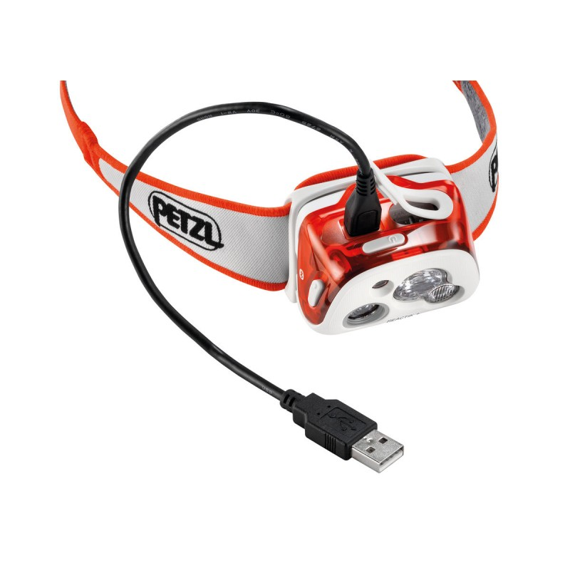 lampe frontale rechargeable petzl reactik corail. Black Bedroom Furniture Sets. Home Design Ideas