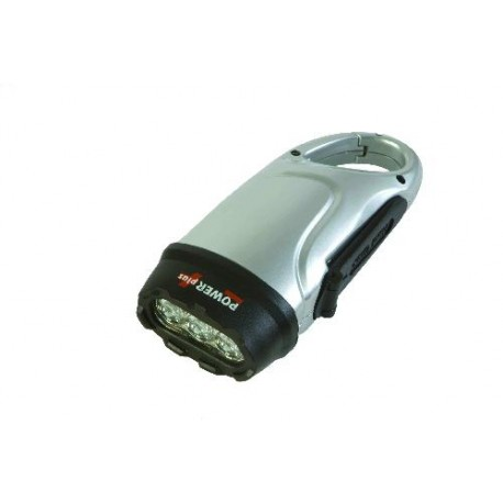 Lampe torche dynamo 3 LED DOLPHIN