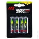 Accumulateurs AA/HR6 - 1,2V - 2500mAh