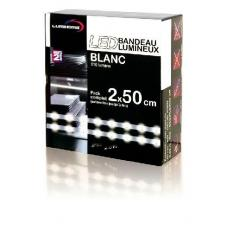 Kit complet Strip LED blanc froid 2x50cm