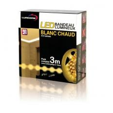 Kit complet Strip LED blanc chaud 3M