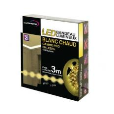 Kit complet Strip LED blanc chaud 3M - Transfo. 50W