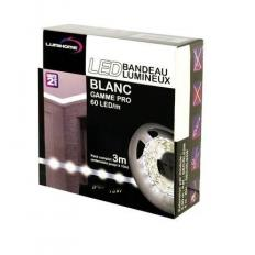 Kit complet Strip LED blanc froid 3M - Transfo. 50W